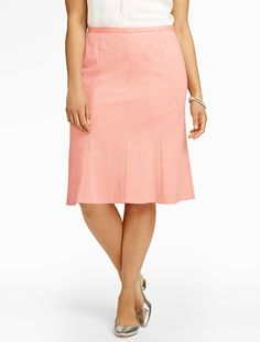 Talbots - Refined Ponte Trumpet Skirt | |  I tried a few different cuts, but in the end I am still a pencil skirt kind of girl - just a larger one.