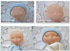 Amigurumi The Sleeping Doll Free Pattern – Amigurumi Crochet Doll Amigurumi Free Pattern, Crochet Dolls Free Patterns, Afghan Crochet Patterns, Amigurumi Doll, Doll Patterns, Crochet Crafts, Crochet Toys, Crochet Turtle, Crochet Doll Clothes