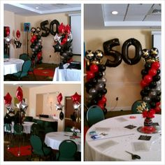 man's 50th birthday party decoration ideas