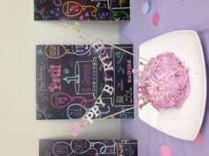 """Amazing smash cakes and memory """"chalk"""" boards!"""