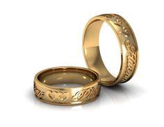 RW37 Wedding Ring With Name, Indian Wedding Rings, Indian Engagement Ring, Wedding Rings Sets His And Hers, Engagement Rings Couple, Wedding Rings Sets Gold, Gold Ring Designs, Gold Bangles Design, Wedding Ring Designs