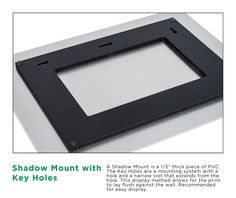 Mounting for Metal Prints: Key Holes