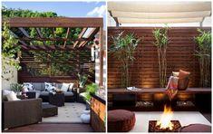 die warme Ausstrahlung des Holzes auf der Terrasse