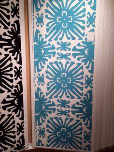 A favorite Quadrille wallpaper