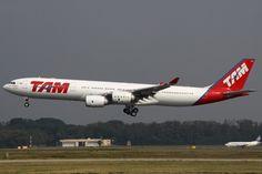 Se a TAM é uma grande cliente do A330 foi apenas uma breve usuária do irmão A340 de quatro motores