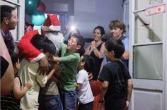 Papá Noel llegó al Hogar Mignaqui.