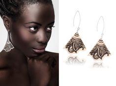Keramik-Ohrring orientalische Ohrringe von ZuDesignJewelry auf Etsy
