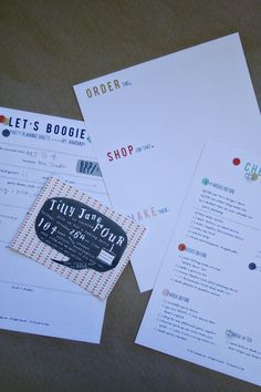 Free printable: party planning sheets