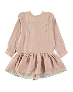 molo Calee Long-Sleeve Silken Dress, Withered Rose, Size 3-10