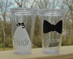Bride/Groom Acrylic Tumblers--Free Shipping