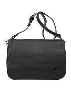 Patricia Nash Black New Vito Small Flap Saddle Bag