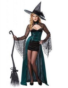 Enchantress Adult Costume, Sexy Witch Fancy Dress - Halloween Costumes at Escapade™ Wicked Witch Costume, Costumes Sexy Halloween, Costume Sexy, Witch Costumes, Cosplay Costume, Adult Costumes, Deer Costume, Turtle Costumes, Cowgirl Costume