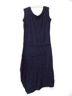 Brook There Dress Size Medium Black Asymmetrical Sleeveless Organic BOHO  #BrookThere #AsymmetricalHem #LittleBlackDress