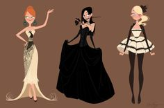 Character design + fashion design.  Elsa Chang.  Rock on.