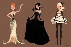 Character design + fashion design.  Elsa Chang.  Rock on.