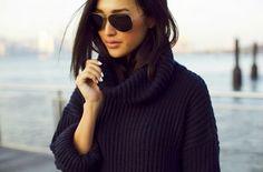 cozy black sweater- garypeppergirl