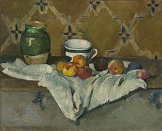 Paul Cézanne / Still Life with Jar, Cup, and Apples / c. 1877 / oil on canvas