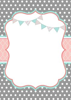 Christening Invitations Girl, Baby Shower Invitations, Borders For Paper, Borders And Frames, Baby Frame, Birthday Frames, Pink Wallpaper Iphone, Baby Album, Planner Organization
