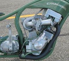 """Grasshopper"" Custom show bike by Roger Goldhammer | Turbocharged single cylinder, based on a Harley-Davidson V-twin style engine | Magneto ignition | Canada"