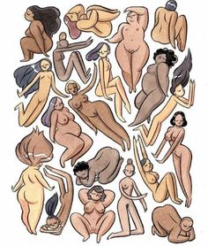 Kelly Bastow Interview: The Art of Body Positivity Illustrations, Illustration Art, Plus Size Art, Pin Up, Body Love, Black Art, Character Design, Character Drawing, Artsy