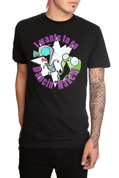 Invader Zim Gir Dancin' Naked T-Shirt $20.50 #HotTopic (Bogo 50%. Loce Gir. By dancin' naked, he means without his disguise- the dog suit.)