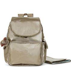 b2891ff20 Zax Metallic Backpack Diaper Bag - Metallic Pewter Mochilas, Mochila  Pañalera, Mochila De Cuero. Kipling