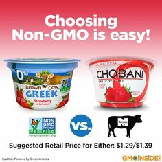 Choosing Non-GMO is easy! Learn more here: http://gmoinside.org/whole-foods-stop-selling-chobani-yogurt