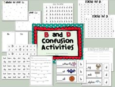 B and D Confusion Activities UK- Relationc Eduacation Paper @ http://www.smartyoungthings.co.uk