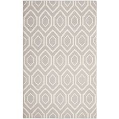 Shop for Safavieh Hand-woven Moroccan Reversible Dhurrie Grey Wool Rug (10' x 14'). Get free shipping at Overstock.com - Your Online Home Decor Outlet Store! Get 5% in rewards with Club O! - 15127126