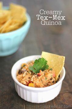 Slow Cooker} Creamy Tex-Mex Quinoa - Baked in AZ