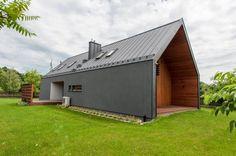 Dom pokazowy Simple House - widok od strony tarasu. Fot. Bautech Futura