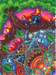 Shrooms & happy tree