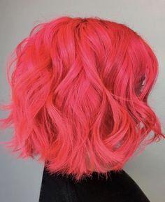 Bubblegum Rose Hair Color (Warm Rose Pink) - Hairstyles For All Rose Hair Color, Hair Dye Colors, Hair Color Dark, Pink Color, Neon Hair, Coral Hair, Peach Hair, Hot Pink Hair, Semi Permanent Hair Color