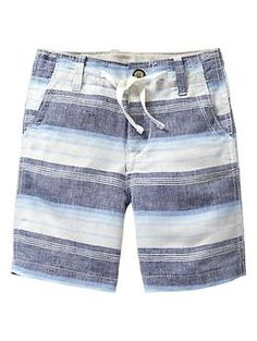 Striped drawstring shorts   Gap