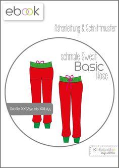 Ebook schmale Basic Hose - Schnittmuster und Anleitung als PDF, versandkostenfrei