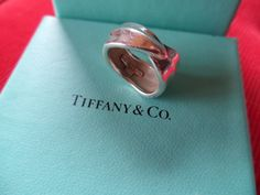 Tiffany & Co. Sterling Leaf Wrap Ring  Size 6  by ChicAvantGarde