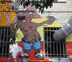 Precita Eyes mural done with the Urban Youth Arts Program in the Tenderloin