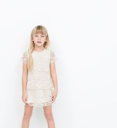 Frilled embroidered dress-Dresses-Dresses-Girl (3-14 years)-KIDS | ZARA United States