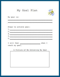 Printables Setting Goals Worksheets my 3 goals worksheet bee theme goal setting school counselor free printable mammamoiselle