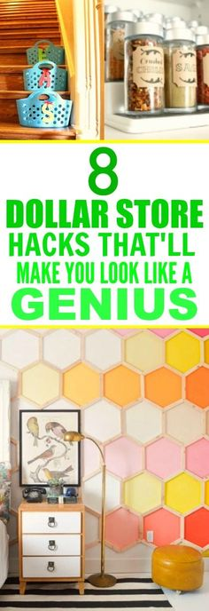 These 8 SUPER easy dollar store hacks are SO GOOD! I'm so happy I found this AWESOME post! These ideas are beyond genius! I'm definitely pinning for later!