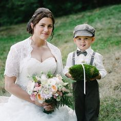 Beautiful bride and her ring man. How cute is he? www.bloomsberryfloral.com www.aaroncourter.com for the gorgeous photo