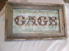 Rustic Custom Name Wall Hanging  Barnwood and by RockinEBoutique, $55.00
