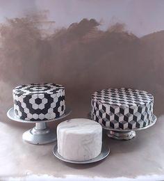 Alana Jones-Mann Tile Cake Series Best Cake for birthday Pretty Cakes, Beautiful Cakes, Amazing Cakes, Cupcakes, Cupcake Cakes, Birthday Cake Ideas For Adults Women, 22nd Birthday Cakes, 22 Birthday, Geometric Cake