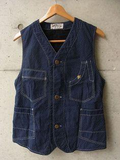 Workwear Fashion, Denim Fashion, Outdoor Pants, Blue Fashion, Vest Jacket, Denim Jeans, Menswear, Casual, Vests