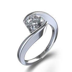 Swirl Bezel Set Diamond Ring I really want this!!!!!!!!!!!!