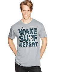 Hanes Men's WAKE REPEAT Graphic Tee (in Sizes Small - 3XL)
