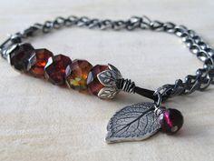 Rustic Rose Leaf Bracelet. $65.00, via Etsy.