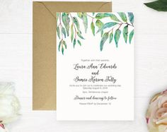 Printable Wedding Invitation Australian by RubyRidgeStudios