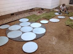 Sacred geometry patio by Fertile Ground