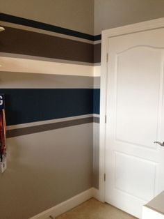 Hgtv S 100 Half Day Designs This Is How My Wall Turned Out Done In Blue And Gray Jack Room Painted Stripes Via Home Garden Television